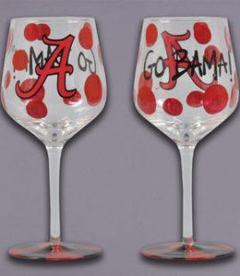 Alabama Wine Glass